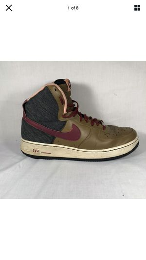 Nike Men's Air Force 1 2013 High Ale Brown/Noble Red-Black Men's Size 9.5 for Sale in Newton, KS