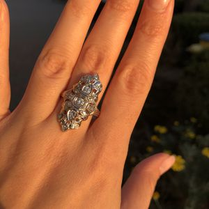 Gorgeous!!! 14K White Gold Natural Diamonds Ring for Sale in Fresno, CA