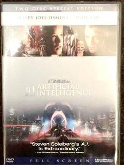 A.I Artificial Intelligence (Full Screen - Special Edition) Movie DVD 2002 (2 Disc Set) for Sale in Chapel Hill,  NC