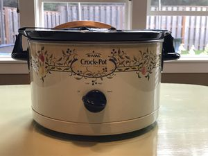 Rival Crock Pot Stoneware Slow Cooker for Sale in Clackamas, OR