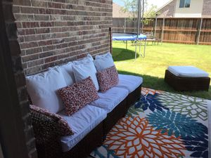 Pottery Barn sofa and ottoman set for Sale in Wylie, TX