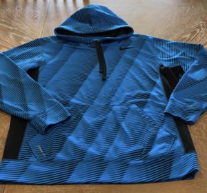 Nike Therma-Fit Jacket Hoodie Sweater Pull Over Blue Large Excellent Condition (Price is Firm) for Sale in Wesley Chapel, FL