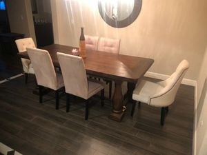 7 ft Dining Table with 6 chairs for Sale in Tulare, CA