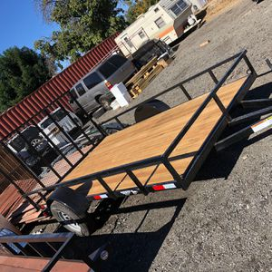 12x7 utility trailer 4ft Ramp for Sale in Yucaipa, CA