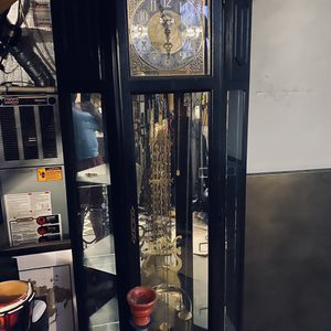 Grandfather clock with Glass shelves for Sale in Union City, GA