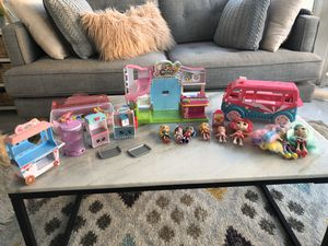 Shopkins marketplace, ice cream truck and dolls. for Sale in Chino Hills, CA