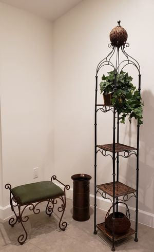 6 1/2 ft tall **Wrought iron shelf like new for Sale in Miami, FL