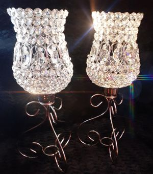 2 Feet Tall Crystal Candleholders for Sale in Davenport, IA