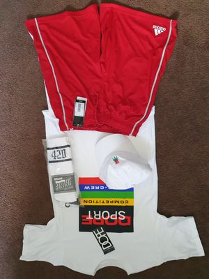 Adidas climax cool shorts/ Sope Sport T/ Huf hat/ Dnine 420 socks for Sale in West Hollywood, CA
