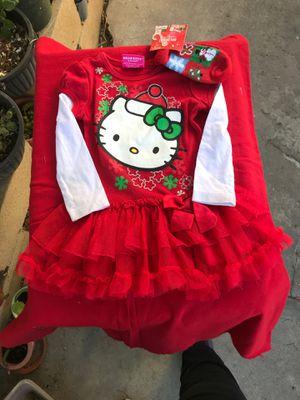 Christmas Sanrio hello kitty baby dress 2 wood Christmas frames for Sale in Norwalk, CA