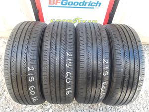 4 USED TIRES 215 60 16 IRONMAN 90% TREAD $160 ALL 4 INSTALLED AND BALANCED for Sale in San Diego, CA