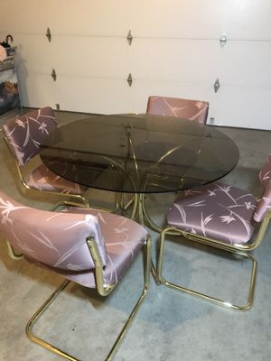 4 piece chair & glass table set for Sale in San Ramon, CA