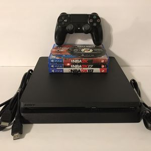 Sony PlayStation 4 PS4 Slim 1TB Console Complete W/ 5 Games for Sale in Los Angeles, CA