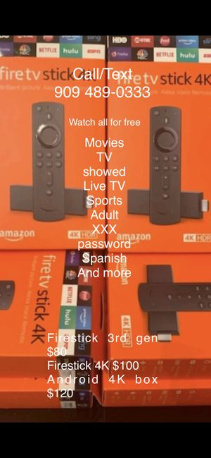 Fire tv stick fully loaded with everything for Sale in Fontana, CA