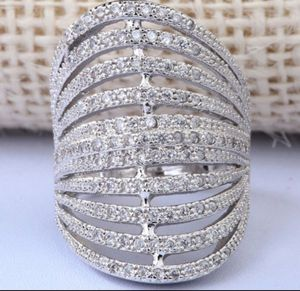 $12 brand new size 10 silver plated CZ ring for Sale in Manchester, MO