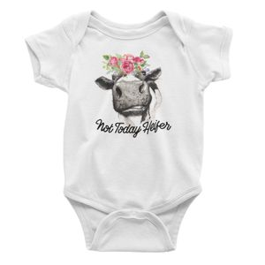 "Baby Bodysuit/Onesie ""Not Today Heifer"" for Sale in New Port Richey, FL"