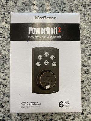 Brand New Kwikset Powerbolt 2 Touchpad keyless Entry for Sale in Revere, MA