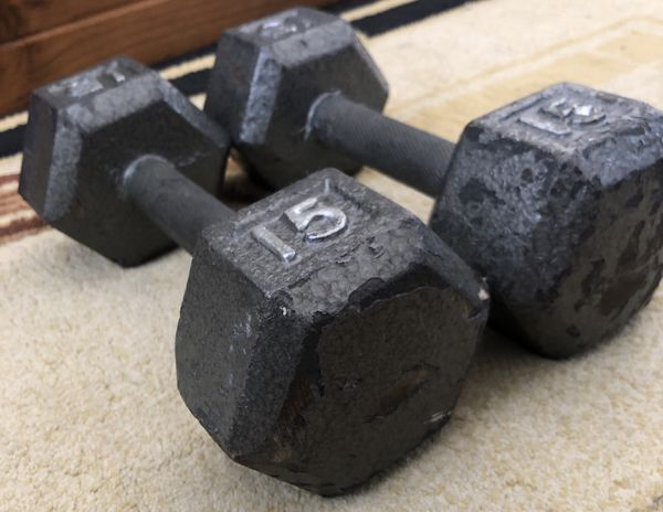 CAP Barbell Cast Iron Hex Dumbbell, 15lbs