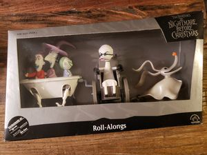 Nightmare Before Christmas Roll-Alongs Lock, Shock, Barrel, Professor & Zero. Sam Goody Exclusive! for Sale in San Antonio, TX