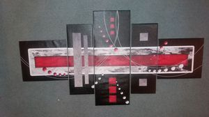 Red/Black abstract canvas art for Sale in Baltimore, MD