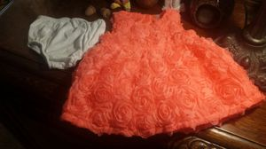 Cherokee Baby Girl's Dress-Up Dress Sleeveless Dark Peach with Flowers Size 3-6 Months for Sale in Austin, TX