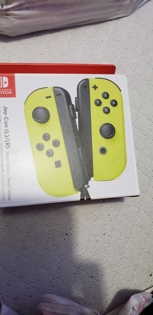 Nintendo switch joy con neon yellow for Sale in St. Louis, MO