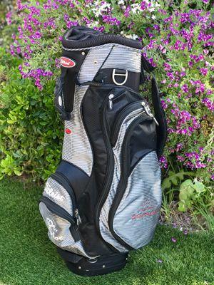 "Titleist Cart Bag Golf Silver/Black 14-Way Divider Top ""SantaLuz"" Logo for Sale in Chula Vista, CA"