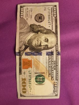 Trinary and star note $100 bill for sale for Sale in Glen Burnie, MD