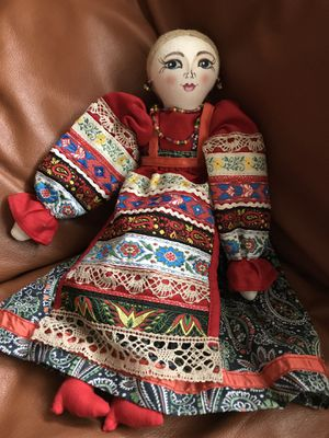 Vintage ethnic cloth doll in traditional dress for Sale in Colesville, MD