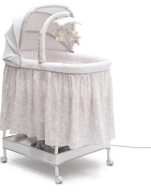 Simmons Kids Deluxe Hands-Free Auto-Glide Bedside Bassinet - Portable Crib Features Silent, Smooth Gliding Motion That Soothes Baby, Embossed Paisley for Sale in Las Vegas, NV