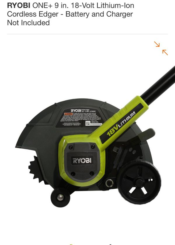 RYOBI ONE+ 9 in  18-Volt Lithium-Ion Cordless Edger - Battery and Charger  Not Included for Sale in Hesperia, CA - OfferUp