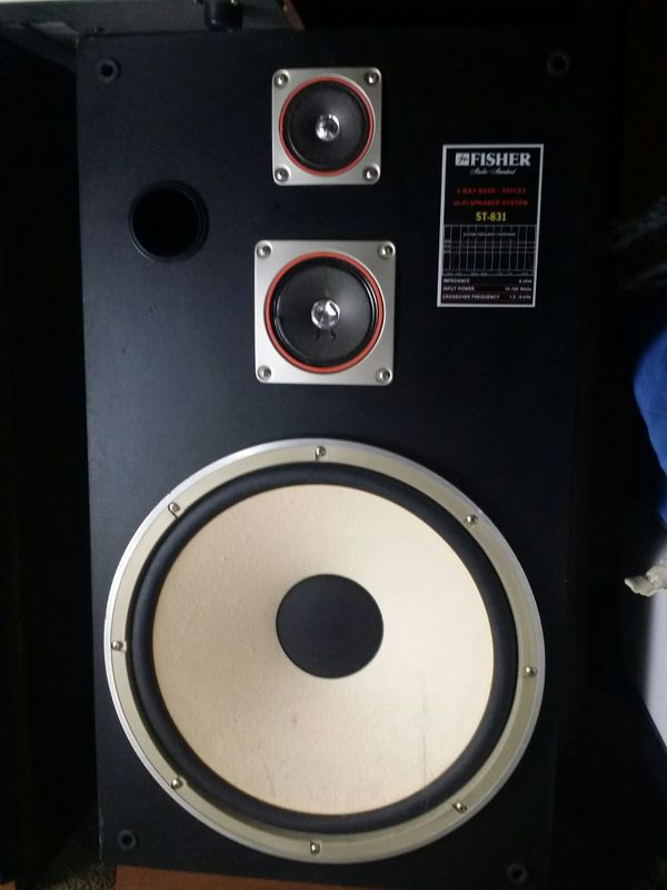 ONKYO 3 PIECE STEREO SYSTEM WITH VINTAGE FISHER SPEAKERS