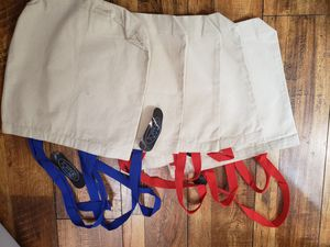 5 blank canvas bags- perfect for crafting! for Sale in San Diego, CA