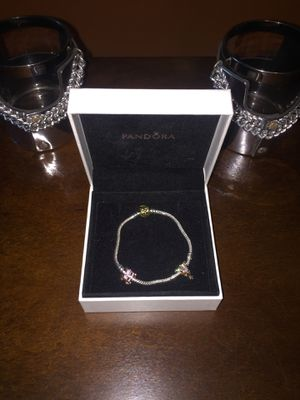 Sterling silver Pandora bracelet with 2 charms for Sale in Orlando, FL