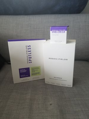 Bundle (Rodan & Fields) Acne Spotless Regimen, Pore Cleansing MD System, Unblemish Clarifying Mask for Sale in Troutman, NC