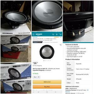 """12"""" Kenwood subwoofers NEW for Sale in Tupelo, MS"""