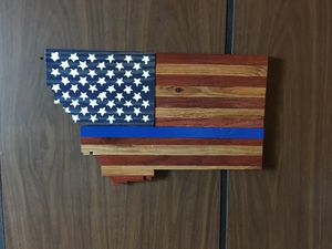 Thin blue Montana flag for Sale in Butte, MT