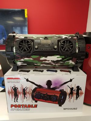 Brand new Portable Party Speaker wireless Bluetooth USB aux sd card port and mic & remote Included for Sale in Dallas, TX