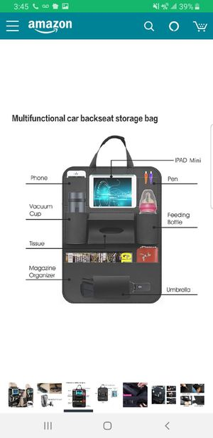 Car back seat organizer for Sale in Spring, TX
