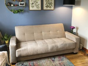 Cream Sleeper Futon Couch for Sale in San Francisco, CA