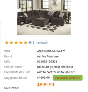 Ashley Furniture 3 piece sectional couch for Sale in Arlington, VA
