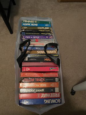40+ Atari games in original boxes all tested for Sale in Charlotte, NC