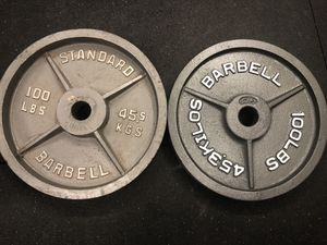 100lb Olympic Weights for Sale in Modesto, CA