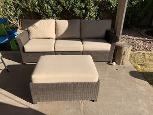 Outdoor sofa and ottoman for Sale in Tempe, AZ