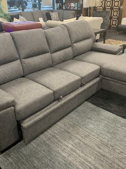 Sofa With Pull Out Bed And Storage Chaise On Sale for Sale in Federal Way,  WA