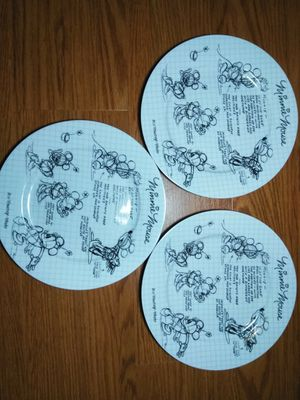 Minnie Mouse Disney Sketch 3 Plates NEW for Sale in Hazelwood, MO