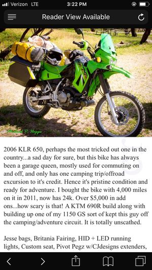 Kawaski KLR 2006 for Sale in Queen Creek, AZ