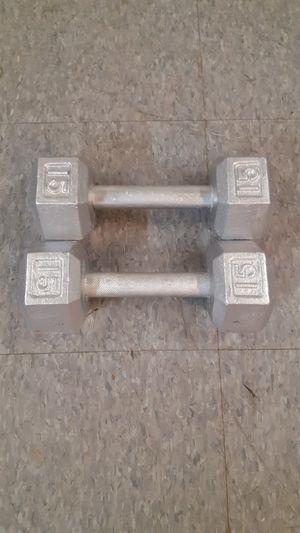 15 lb cast iron dumbbells for Sale in Santa Clarita, CA