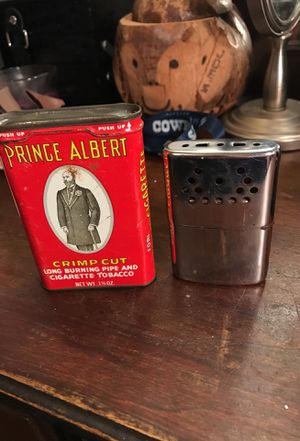 Antique lighter and tobacco canister for Sale in Ballinger, TX