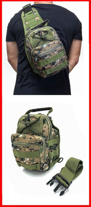 NEW! Small Compact Tactical military style side crossbody sling chest travel work bag gym hiking biking fishing backpack for Sale in Carson, CA